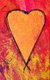 Peinture de coeur Image libre de droits
