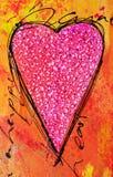 Peinture de coeur Photo stock