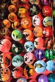 Peinture de coquille de noix de coco colorée photo libre de droits