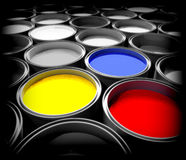 Peinture de couleur Image libre de droits