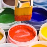 peinture de couleurs de balais Images libres de droits