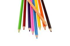 Peinture de crayon sur le fond blanc images libres de droits
