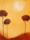 Peinture de de 3 arbres Photographie stock libre de droits