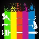 Peinture de différents types avec l'outil illustration libre de droits
