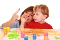 Peinture de doigt photo stock
