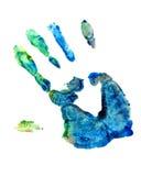 Peinture de doigt de main Image libre de droits