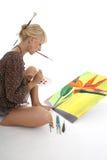 Peinture de femme Photographie stock