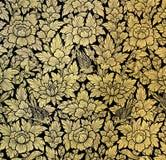 Peinture de feuille d'or Photographie stock libre de droits