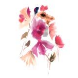 Peinture de feuille d'aquarelle Photo libre de droits
