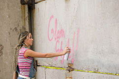 Peinture de fille photographie stock libre de droits