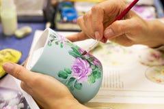 Peinture de fleur photographie stock