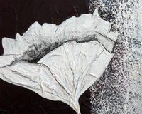 Peinture de fleur de pavot Image libre de droits