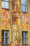 Peinture de fresque à Bamberg photo libre de droits
