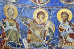 Peinture de fresque dans le monastère Manasija près de Despotovac, Serbie Photo libre de droits