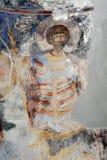Peinture de fresque dans le monastère Manasija près de Despotovac, Serbie Images libres de droits