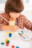 Peinture de garçon Image libre de droits