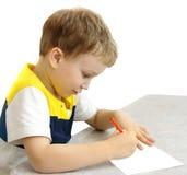 peinture de garçon Images libres de droits