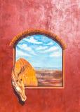 Peinture de girafe photographie stock