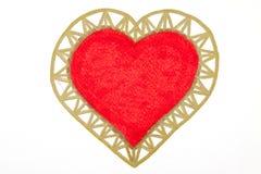 Peinture de grand coeur rouge au-dessus du fond blanc Image stock