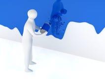 peinture de la personne 3d Photos libres de droits