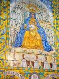 Peinture de la Vierge de Santa Maria et de Jésus, Barcelone, Spai Photos stock