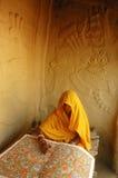 Peinture de Madhubani en Bihar-Inde Images libres de droits