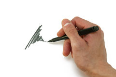Peinture de main Image libre de droits