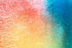 Peinture de main d'art d'aquarelle sur le fond blanc de texture d'aquarelle images stock