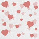 Peinture de modèle de coeur sur le mur blanc Photographie stock libre de droits