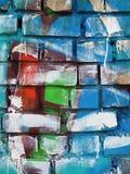 Peinture de mur abstraite Images stock