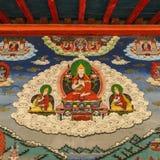 Peinture de mur de bouddhisme images stock