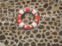 Peinture de mur d'anneau de vie en villa San Giovanni, Italie photos stock