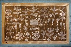 Peinture de mur de Warli Photos stock