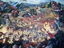 Peinture de mur thaïe Photographie stock libre de droits