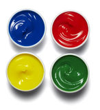 Peinture de palette de couleur d'artiste Photos stock