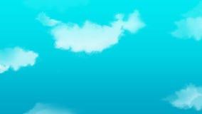 Peinture de paysage de nuage Images libres de droits