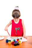 Peinture de petite fille Photo stock