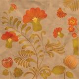 Peinture de Petrikov Ornement floral ukrainien cru Photographie stock