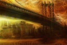 Peinture de pont de NYC Photo stock