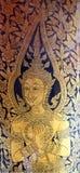 Peinture de porte chez Wat Po, Thaïlande Photos stock
