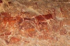 Peinture de roche de débroussailleurs image libre de droits