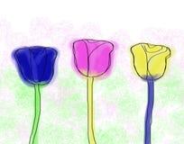 Peinture de roses Photo libre de droits