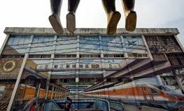 Peinture de rue à Kaohsiung (Gao Xiong, Taïwan) Photo stock