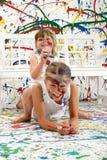 Peinture de soeurs Photographie stock libre de droits