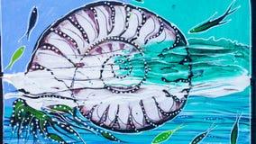Peinture de toile de coquille de Nautilus Photographie stock libre de droits
