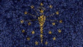 Peinture de tuiles de mosaïque d'Indiana Flag illustration libre de droits