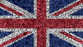Peinture de tuiles de mosaïque d'union BRITANNIQUE Jack Flag illustration de vecteur