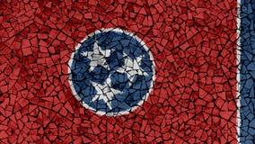 Peinture de tuiles de mosaïque de Tennessee Flag photo libre de droits