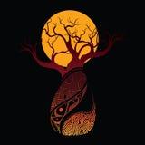 Peinture de vecteur d'arbre de baobab de Boab Photos libres de droits