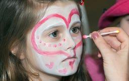 Peinture de visage Photographie stock